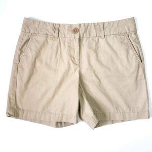 Womens Loft Tan Chino Shorts Khaki Shorts